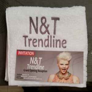 Handdoek opening N&T Trendline
