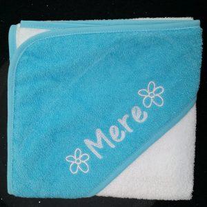 Aquablauwe badcape Mere