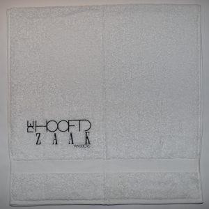 """witte handdoek """"De Hoofdzaak"""""""