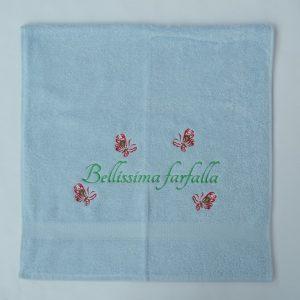 IJsblauwe handdoek Farfalla