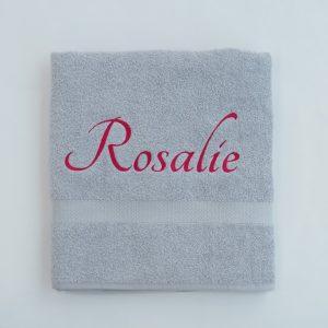Zilvergrijs douchelaken Rosalie