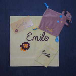 Geboorteset Emile - leeuw