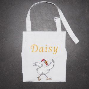 Schort Daisy met kip