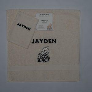 Handdoek en washand Jayden