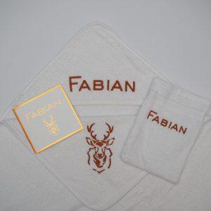 Geboorteset Fabian met hertenkop