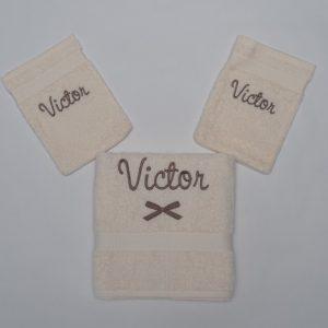 Handdoek en washandjes - Victor