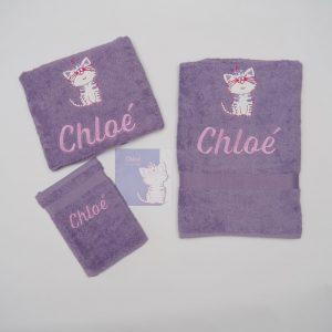 Lavendel set met poesje - Chloé