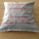 Kussen Lotte en Robbe