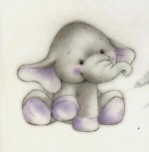 tekening op het geboortekaartje