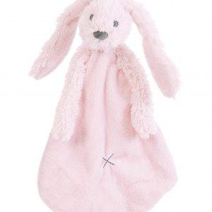 Knuffeldoekje - konijn lichtroze