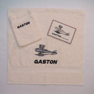 Handdoek en washand vliegtuig - Gaston